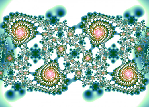 Green fractal on white background. Full-size: http://hubpages.com/u/8729528.png