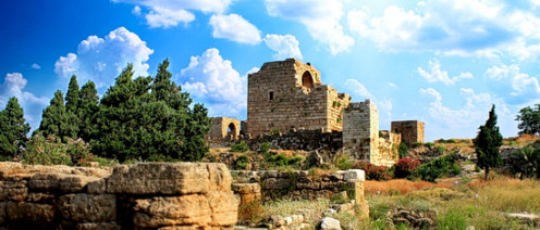 Crusader castle in Byblos built in 12th century