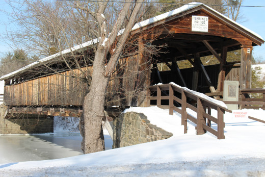"A covered bridge, ""covered""."