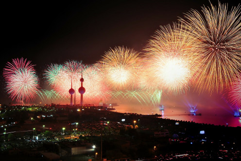 Kuwait Fireworks Display Lights