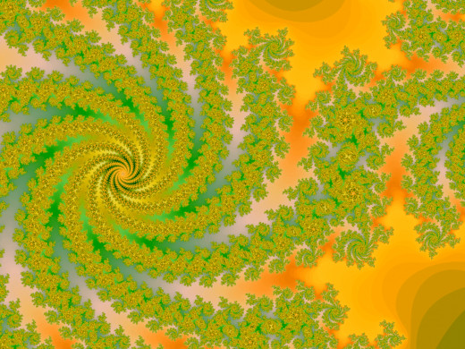 Fractal in yellow. Full-size: http://hubpages.com/u/8731080.png
