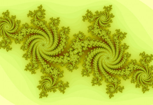 Yellow fractal spiral. Full-size: http://hubpages.com/u/8731096.png