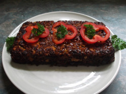 Cashew and Carrot vegetarian/Vegan Nut Loaf with Added Sunflower Seeds