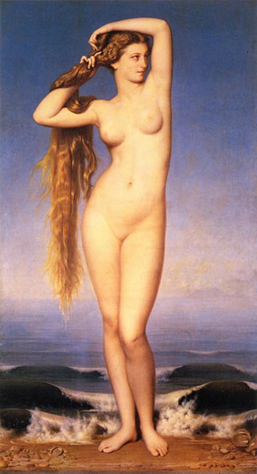 La Naissance de Venus/ Birth of Venus by Eugène-Emmanuel Amaury-Duval .. The FIRE STARE