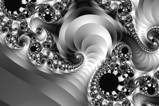 Black and white fractal. Full-size: http://hubpages.com/u/8731910.png