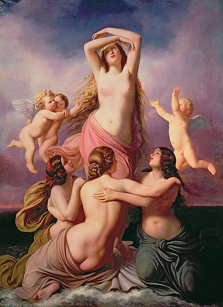 The Birth of Venus by Eduard Steinbrück, Airy with the Gemini Twins