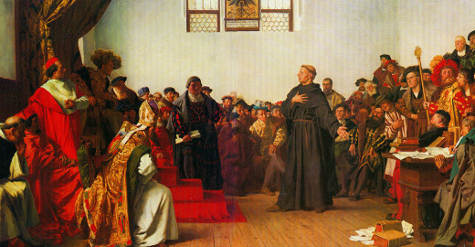 "Luther Before the Diet of Worms"" by Anton von Werner (1843–1915)"