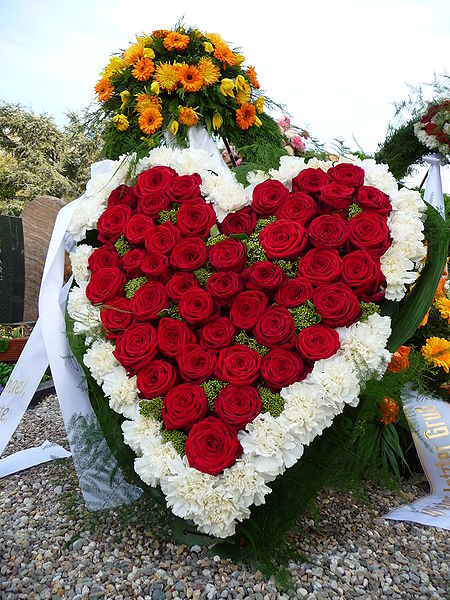 Roses in the shape of a heart