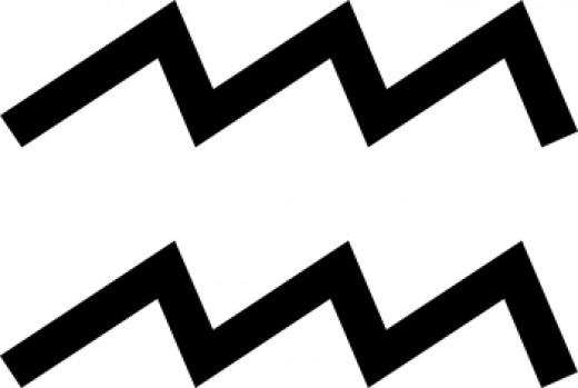 Aquarius's glyph