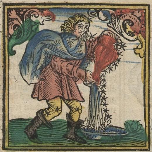 Astrologie ^ Sternzeichen ^ Kalender/ Dutch Astrology Calendar by Sternzeichen Wassermann