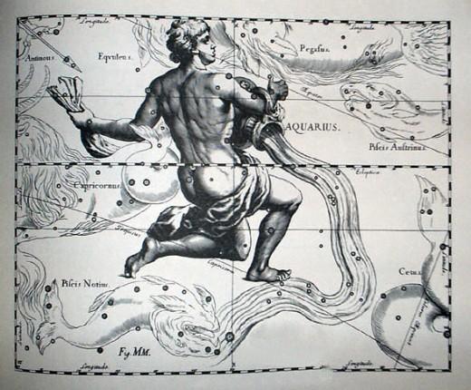 Aquarius by Johannes Hevelius