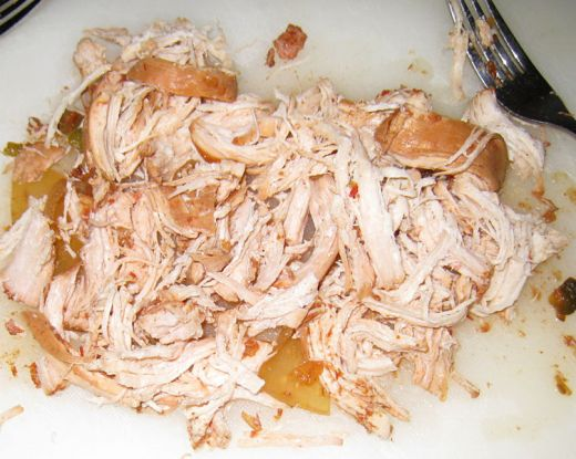 Chicken Shredded With A Fork
