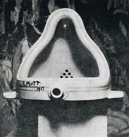Marcel Duchamp, Fountain, 1917. A symbol of Dadaism.