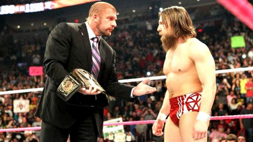 Corporate warfare: Leader of The Authority, Triple H, could headline WrestleMania 30 against his victim, Daniel Bryan. Will the bearded underdog finish The Game?
