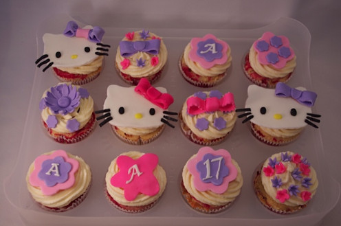 Hello Kitty cupcakes are a fool-proof alternative to a cake.