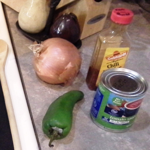 Ingredients for Homemade Red Enchilada Sauce