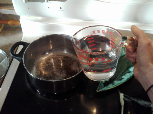Step One: Add 2 cups of water to a medium pot