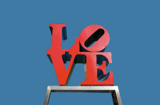 A person cannot think of Philadelphia without thinking of the LOVE statue (or cheesesteaks)