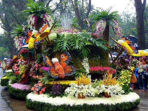 One of the colorful theme floats during the Panagbenga Festival Grand Float Parade