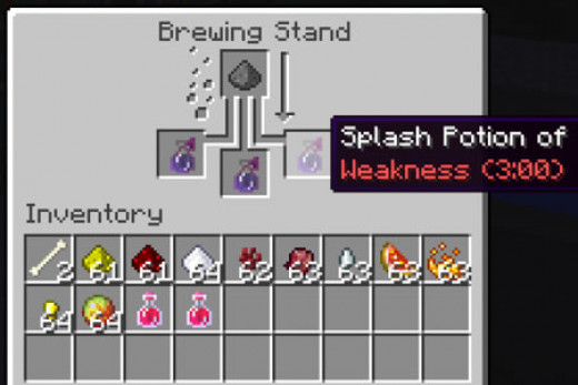 How do you make a potion of harming im minecraft?
