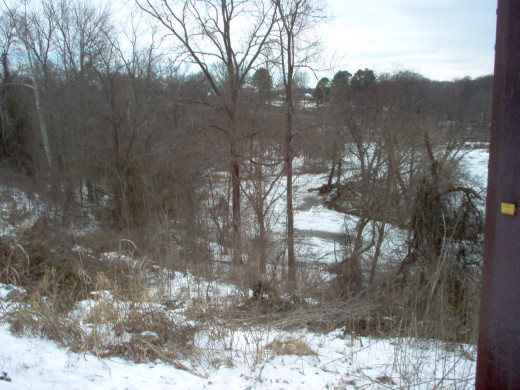 This is a second picture of the Rappahannock River on January 25. 2014.