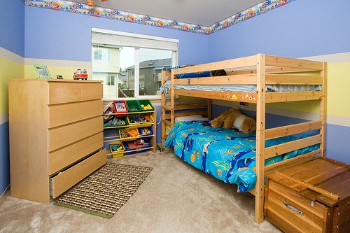 Bunk beds for boys sharing a room.