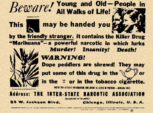 1935 ad by the Federal Bureau of Narcotics