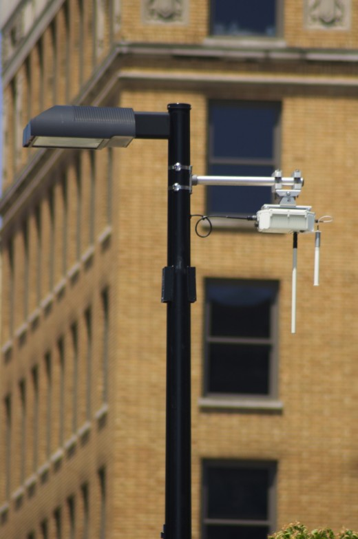 WiFi unit attached to a light pole