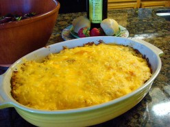 My own Yummy Cheese Potatoes, from our latest Easter dinner.  Don't they look delicious:-)