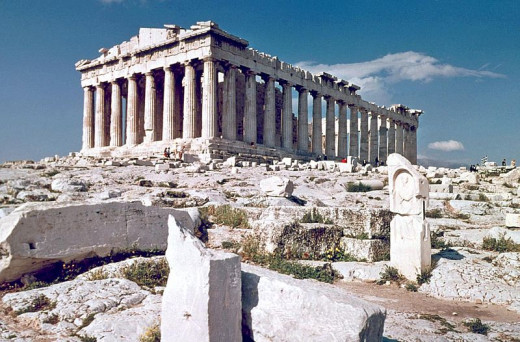 The Parthenon in Athens. Some think even the columns adhere to the Golden Mean.