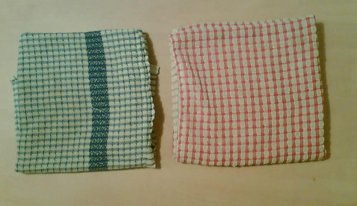 Blue and Red Kitchen Towels