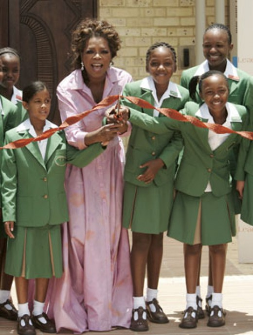 Oprah opened school for girls in Johannesbug