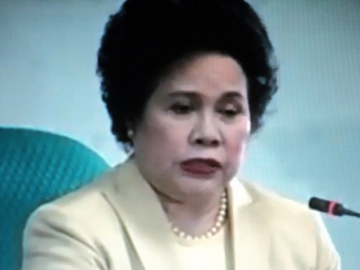 Senator Miriam While QuestioningTuason at the Senate Hearing