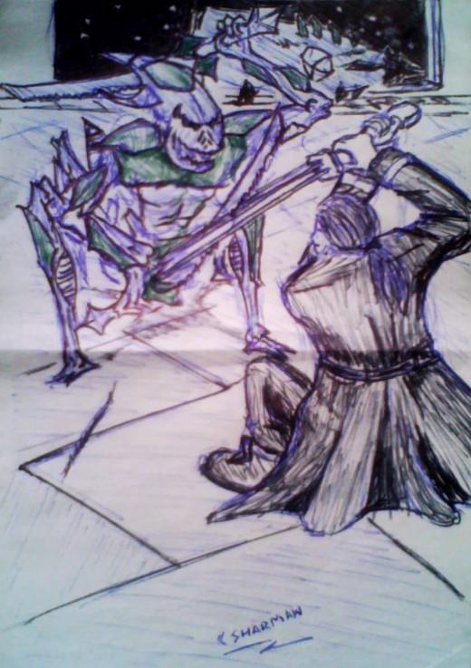 Concept art for the final battle....