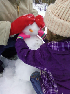 Have you ever heard of a snowman head fight?