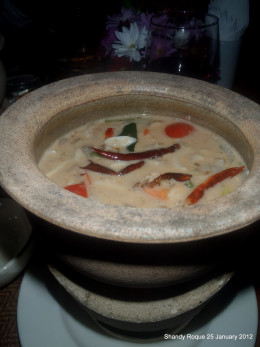 Tom Kha Gai (chicken in coconut milk)