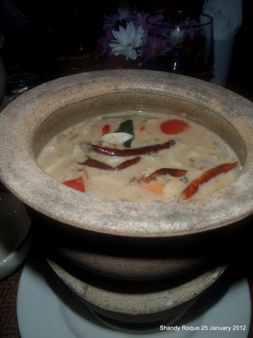 Tom Kha Gai (chicken in coconut milk)