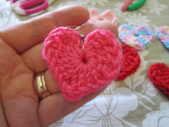 How to Crochet Heart Earrings for Valentine's Day