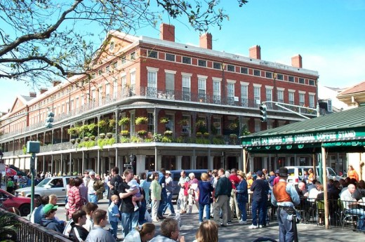 Cafe Du Monde where the delicious beignets are served daily. If you're in the French Quarter be sure to stop by