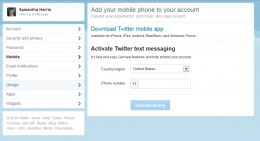 Mobile tab, link your phone to your Twitter for on-the-go updates, and enhanced security.