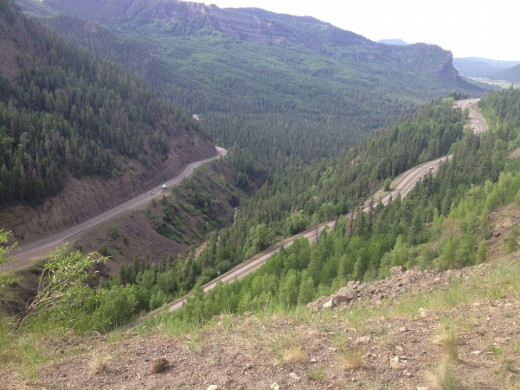 Not even half-way up Wolf Creek Pass - this was my biggest challenge of the trip