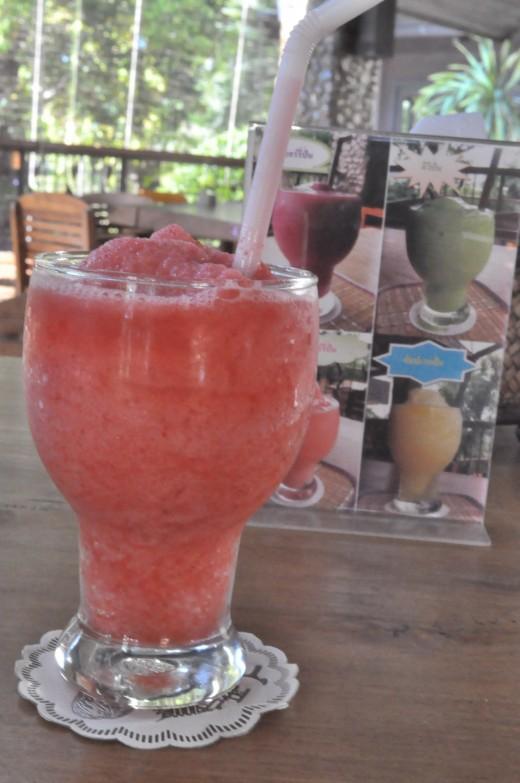 Strawberry smoothie.
