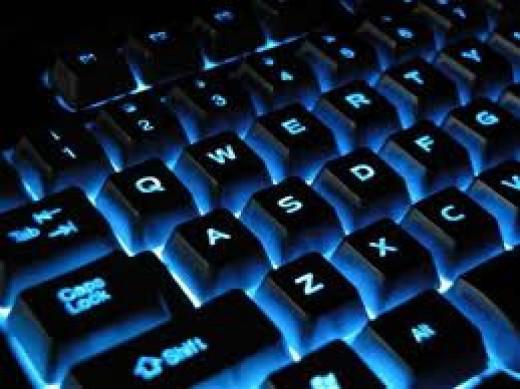 Back lighted keyboard