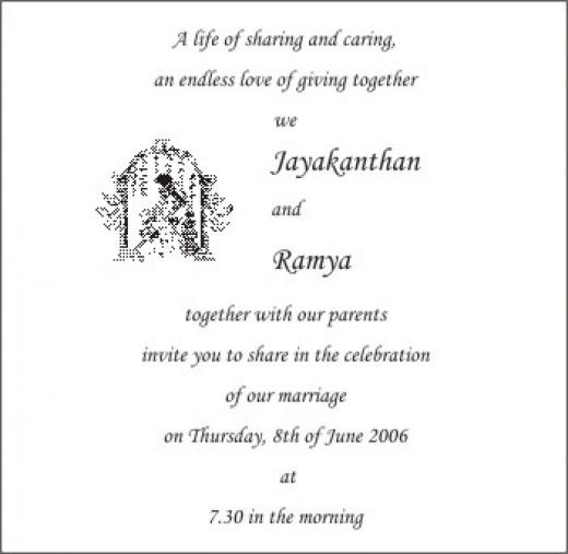 Hindu Personal Wedding Invitation Card Wordings The Wedding – Personal Wedding Invitation Cards
