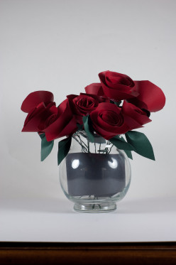 Paper flowers make an attractive traditional first anniversary gift