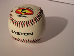 leather baseball for him