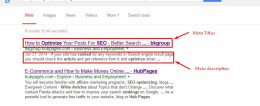Meta Tag SEO -Search Engine Optimization