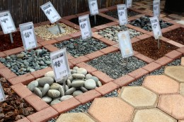 Stone varieties. Here's where your personal preference and creativity make landscaping fun.