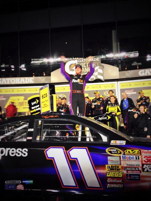 Hamlin won a war of attrition to capture the first race of the season