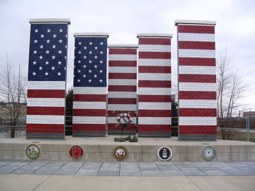 The Veterans Freedom Flag Monument located at Joint Systems Tank Manufacturing Center in Lima, OH.
